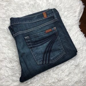 7FAM Dojo Flare Wide Leg Jeans 32x32
